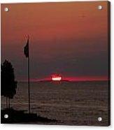 Peach Point Sunset Acrylic Print