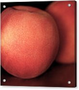 Peach Acrylic Print by Rona Black