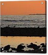 Peach Sunset On The Beach Acrylic Print
