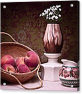 Peaches And Cream Sill Life Acrylic Print by Tom Mc Nemar