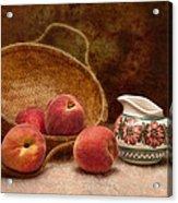 Peaches And Cream Still Life II Acrylic Print