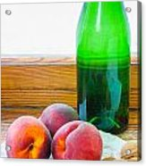 Peaches And Walnuts With Bottle Acrylic Print