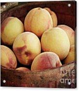 Peaches In A Basket Acrylic Print