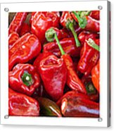 Peaches Peppers Peppers - Landscape Acrylic Print