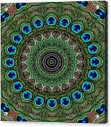 Peacock Abstract Acrylic Print