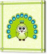 Peacock  - Birds - Art For Kids Acrylic Print