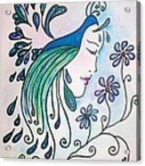 Peacock Dawn Acrylic Print