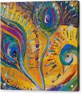 Peacock Dreams Acrylic Print