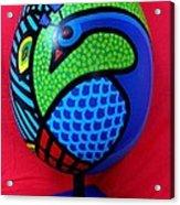 Peacock Egg Acrylic Print