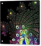 Peacock Explosion Display Acrylic Print