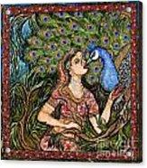 Peacock Girl Acrylic Print