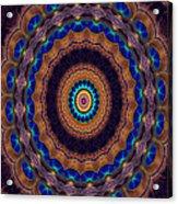 Peacock Pinwheel Acrylic Print