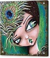 Peacock Princess Acrylic Print