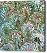 Peacock Shell Pattern Abstract Acrylic Print