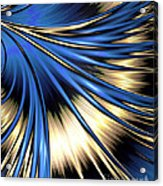 Peacock Tail Feather Acrylic Print