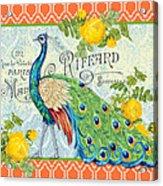 Peacocks In The Rose Garden-3 Acrylic Print