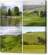 Peak District Collage 01-labelled Acrylic Print