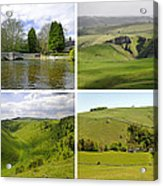Peak District Collage 01-plain Acrylic Print