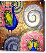 Peacock Swirl Acrylic Print