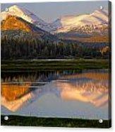 6m6530-a-peaks Reflected Touolumne Meadows  Acrylic Print