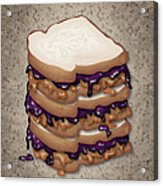 Peanut Butter And Jelly Sandwich Acrylic Print