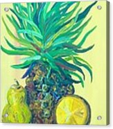 Pear And Pineapple Acrylic Print