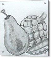 Pear Artichoke Snap Pea Acrylic Print