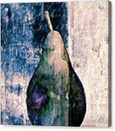 Pear In Blue Acrylic Print