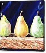 Pear Pear And A Pear Acrylic Print