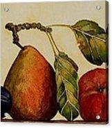 Pear Plum Apple Acrylic Print