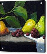 Pear Row Acrylic Print