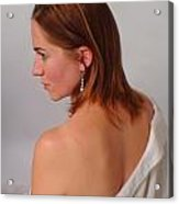 Pearl Earring Acrylic Print