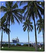 Pearl Harbor Hawaii Acrylic Print