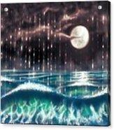 Pearl Rain @ Precious Pearl Ocean Acrylic Print