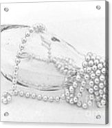 Pearls And Old Glass Abstract Acrylic Print