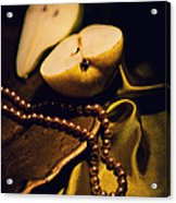 Pearls And Pears Acrylic Print