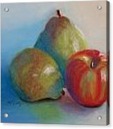 Pears And Apple Acrylic Print