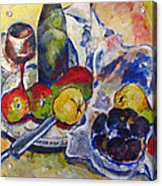 Pears And Figs Acrylic Print