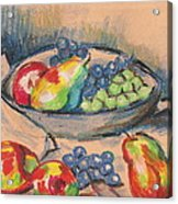 Pears And Grapes 2 Acrylic Print