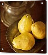 Pears And Great Grandpa's Silver Acrylic Print
