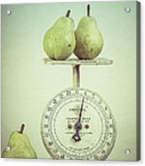 Pears And Kitchen Scale Still Life Acrylic Print