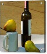 Pears And Wine Acrylic Print