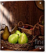 Pears At The Old Farm Market Acrylic Print