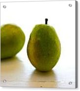 Pears On A White Background Acrylic Print