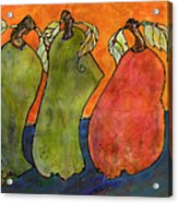 Pears Surrealism Art Acrylic Print by Blenda Studio