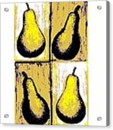 Pears- Warhol Style Acrylic Print by C Fanous