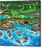 Pebble Beach 15th Hole-north Acrylic Print