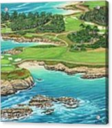 Pebble Beach 15th Hole-south Acrylic Print