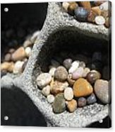 Pebble Beach Mankala Acrylic Print
