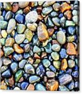 Pebbles Galore Acrylic Print